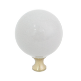 106 Gray Spherical Ceramic Knob with Brass Base
