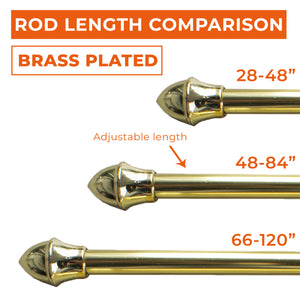 "Brass Plated 1/2"" Café Rod"