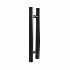 Black Square H-Handle 600mm