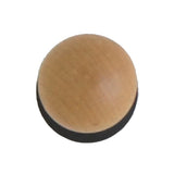 N18 Wooden Knob with Black Coated Base
