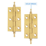 Solid Brass Crown Ball Tip Profile Hinge
