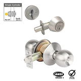 Corona Entrance Keyed & Single Deadbolt Combination Lock