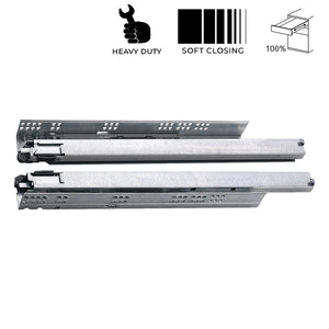 Giano Concealed Soft Close Heavy Duty Drawer Slide