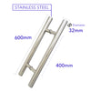 "H109 H-Handle 24"" 600MM Back to Back Modern Door Pull"