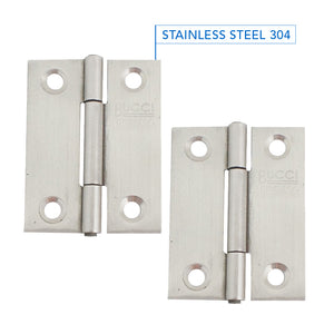 Stainless Steel Light Duty Narrow Butt Hinge