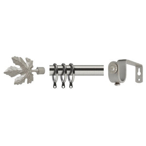 Chrome Plated Iron Curtain Rod Set