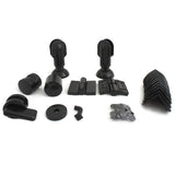 Nylon Black Toilet Partition Set