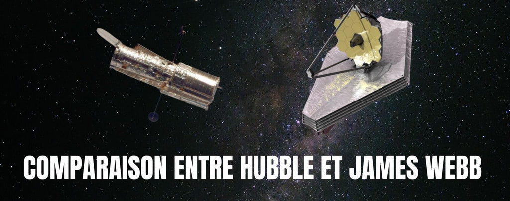 Comparaison entre Hubble et James Webb