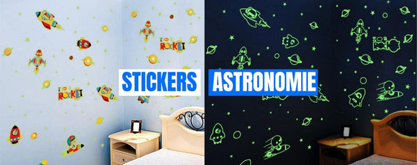 stickers muraux phosphorescents astronomie