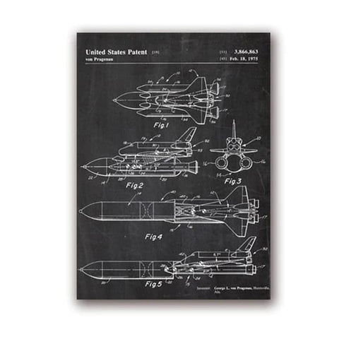 Poster Navette Spatiale | Espace Stellaire