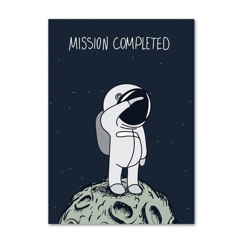Poster Astronaute Mission Accomplie