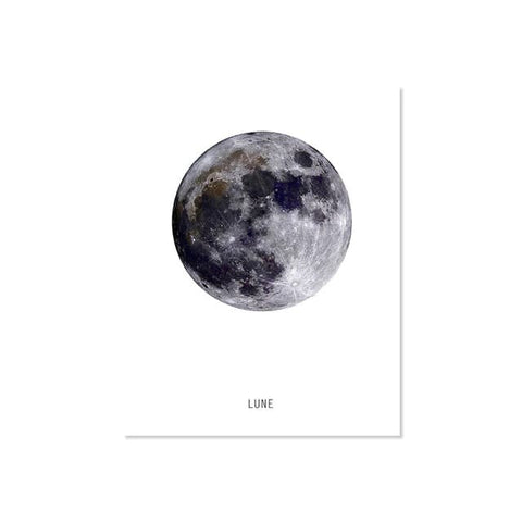 Poster Terre | Lune