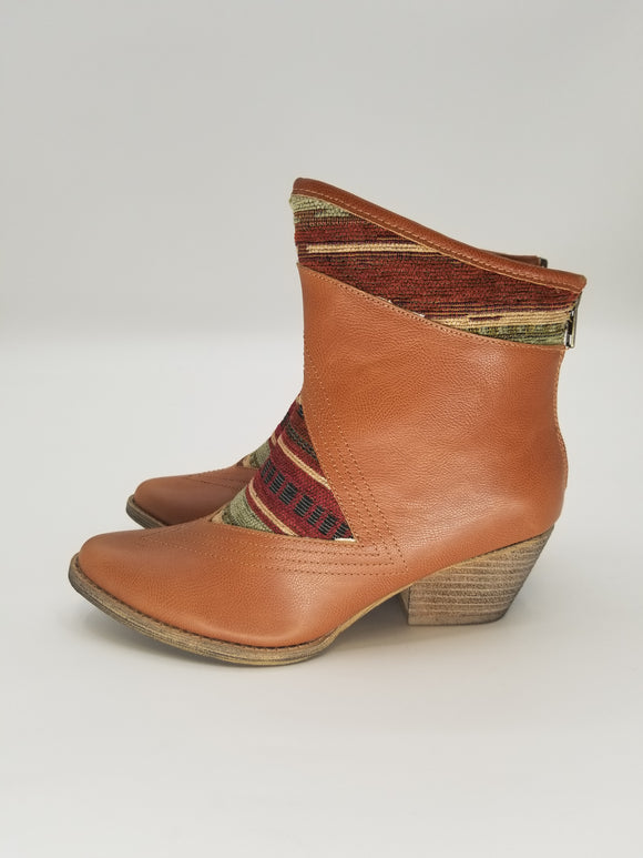 Southwestern Inlay Bootie