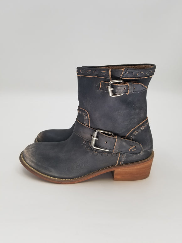 Rebel Leather Bootie