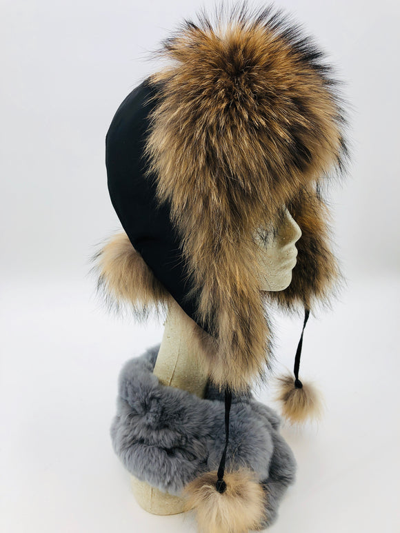 Fox Fur Bomber Hat - 3 Colors