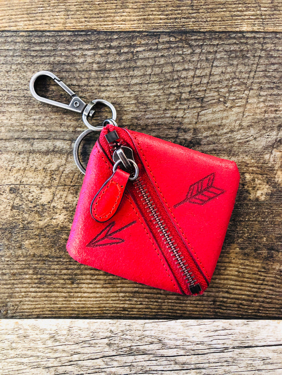 Leather Keychain Coin Purse - 2 Colors