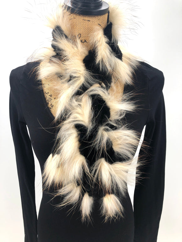 Fox & Rex Rabbit Fur Scarf