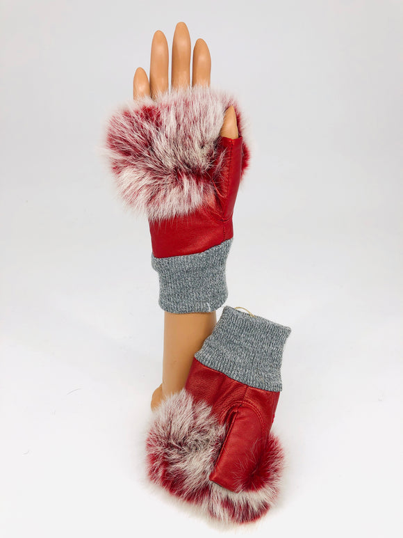 Genuine Rex Rabbit Fingerless Gloves