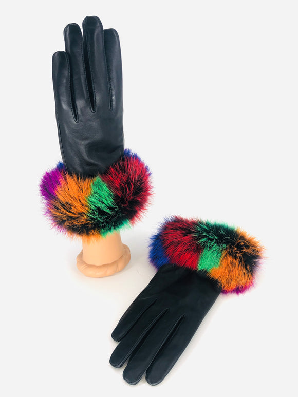 Rex Rabbit Leather Gloves