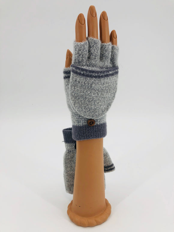 Grey Flip Mitts