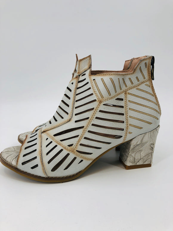 Urban Angles Open Toe Leather Bootie