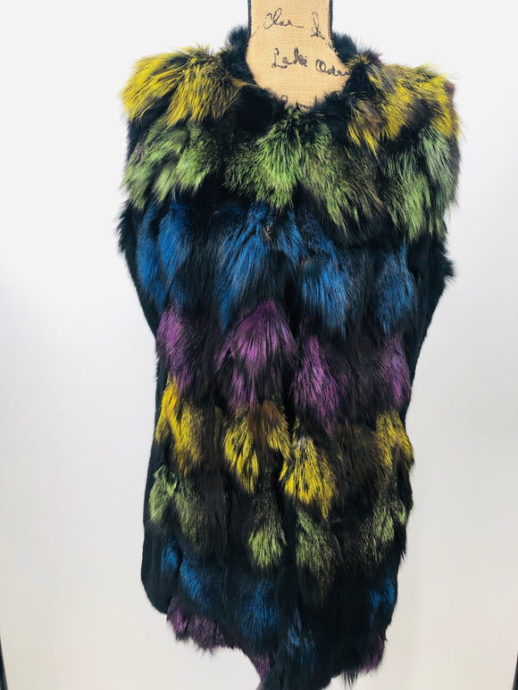 Fox Fur Multi-Colored Vest