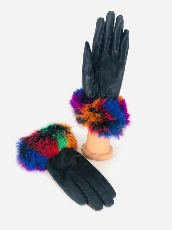 Rex Rabbit Leather Gloves - 4 Colors