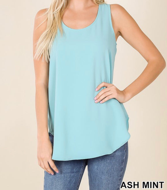 Sleeveless Crepe Top - 14 Colors