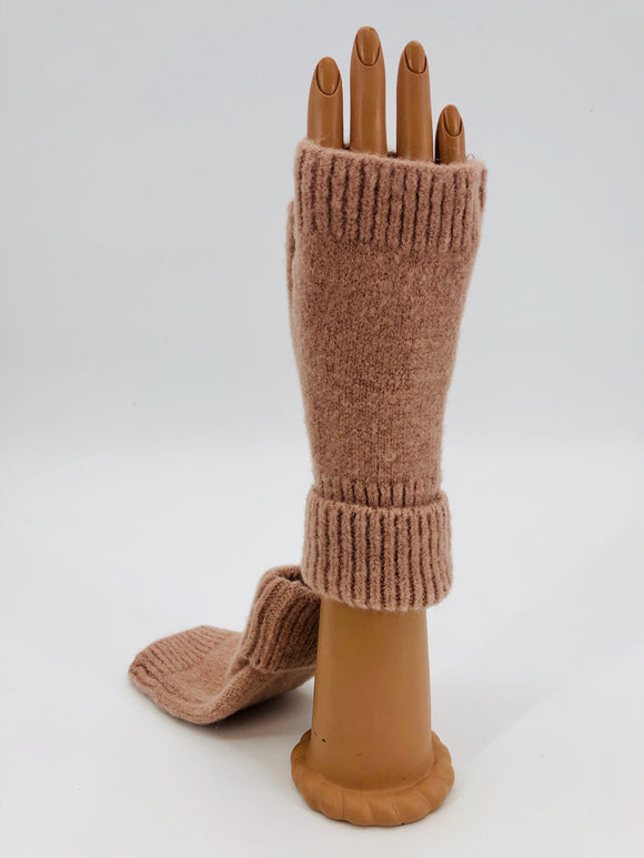 Cashmere Fingerless Gloves - Multiple Colors