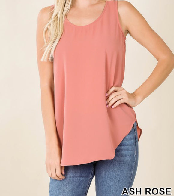 Sleeveless Crepe Top - 3 Colors