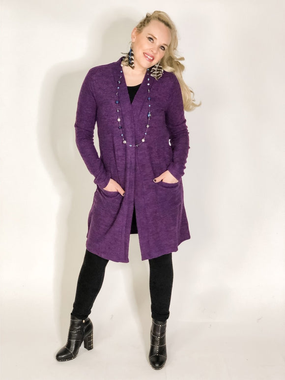 Plush Duster Cardigan with pockets