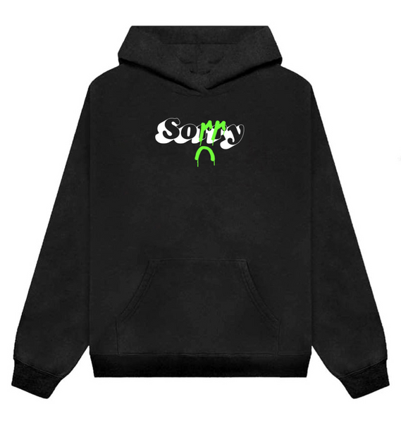 ...in advance Hoodie [Black w/ green]