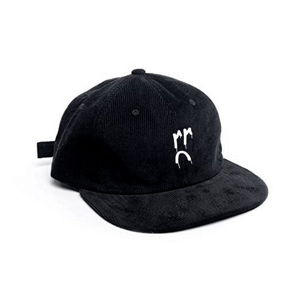 LOGO EMBROIDERED CORDUROY HAT (BLACK)
