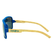 Load image into Gallery viewer, Boys Aviator Sunglasses Hollister Blue/Wood