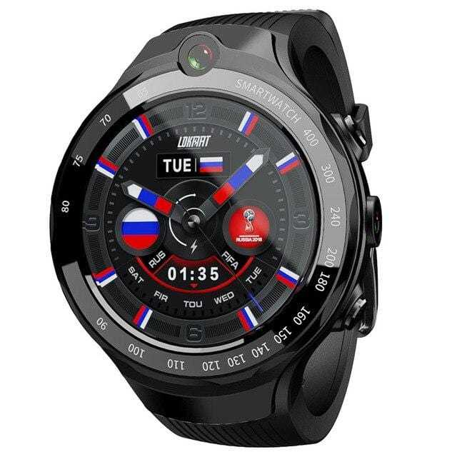 Montre intelligente 4G hommes Smartwatch ios Android 7.1 double caméra
