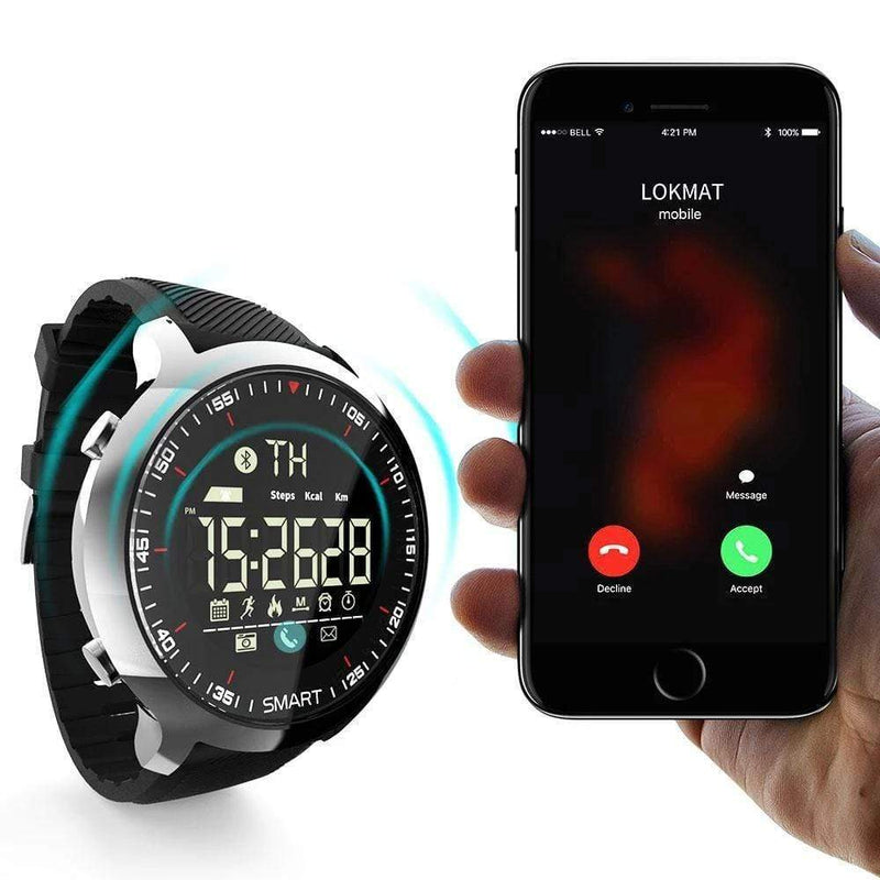 Montre intelligente hommes, smartwatch Bluetooth 4.0 pour ios Android
