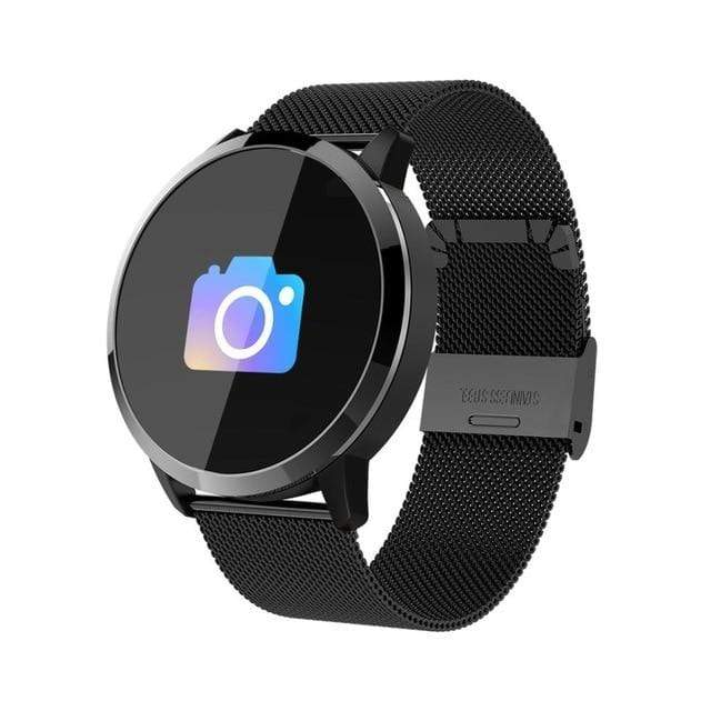 Q8 Fitness Tracker femme montre intelligente noir
