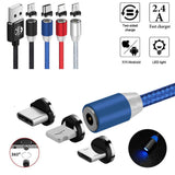 LED USB Magnetic Cable for IOS & Android