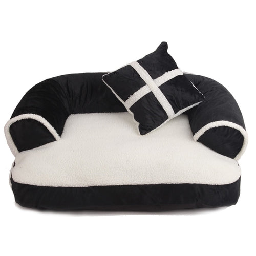 Warm Double-Cushion Dog Bed Soft Cotton