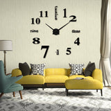 Wall Clocks Clock 3D Diy Acrylic Mirror Stickers