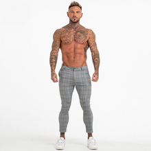 Load image into Gallery viewer, PLAID TROUSERS LIGHT GREY