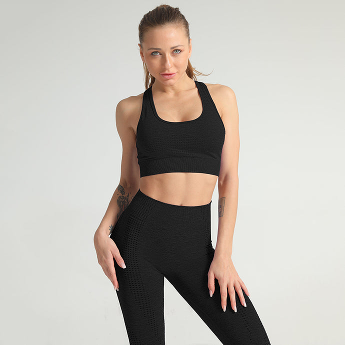 HYPERFLEX SEAMLESS SPORTS BRA BLACK