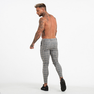 PLAID TROUSERS LIGHT GREY/BLACK