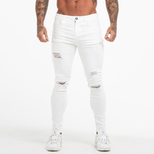 Load image into Gallery viewer, RIPPED SKINNY JEANS WHITE