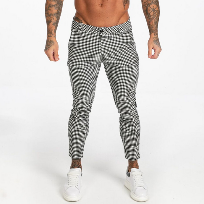 CAESAR TROUSERS WHITE/BLACK