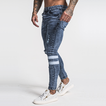 Load image into Gallery viewer, TRAX SKINNY JEANS BLUE WORN