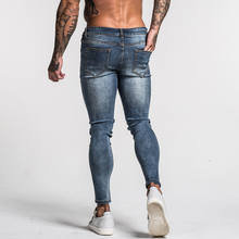 Load image into Gallery viewer, BASIC SKINNY JEANS FADED BLUE