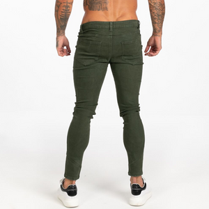 BASIC COLOR SKINNY JEANS DARK GREEN