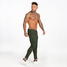 Load image into Gallery viewer, BASIC COLOR SKINNY JEANS DARK GREEN