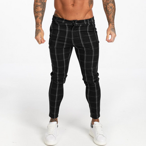 LUXE CHECK TROUSERS BLACK/WHITE
